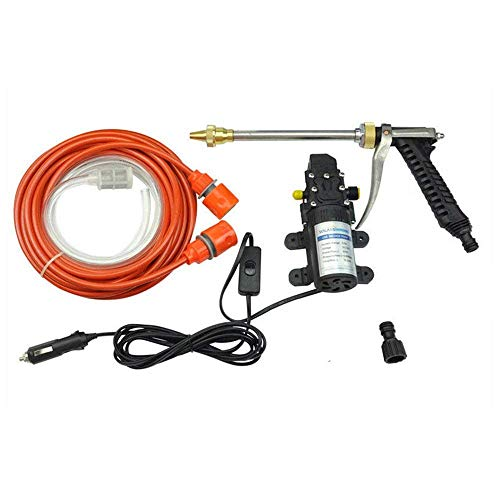 12 Volt Portable High Pressure Water Pump Car Wash Device Fit for Auto Rv Marine,Pets Showering,Window Cleaning,Gardening and Camping TOOGOO Car Washer Kit