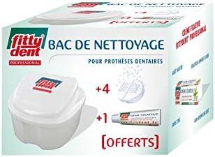 DECTRA PHARM - Bac de nettoyage +4comprimés +1crème fixative10g offerts Fittydent