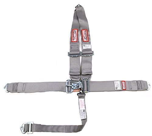 - Racerdirect.net 5 Point Race Harness SFI 16.1 V Roll Bar Mount, Bolt in, Pull Down Lap Belts Color Gray