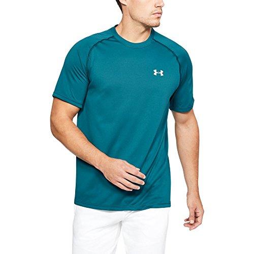 Under Armour Men's Tech Short Sleeve T-Shirt, Tourmaline Teal (716)/Tin, Large Tall