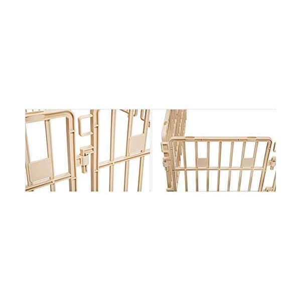 Purmipet Dog Magic Fence Plastic Indoor Outdoor Fences Kennel Cage Play Pen with 12 Pieces Ivory Color Click on image for further info. 2
