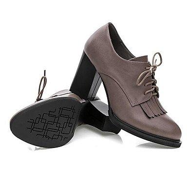 Talons Lvyuan Chaussures Cm 12 Femme amp; Plus Formelles ggx Cuir Talon Gray Gris Printemps Automne À Gros qr1Iw4rUnE