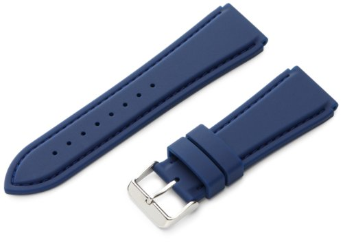 Hadley-Roma Men's MS3346RF 240 24-mm Genuine Silicone Diver Sport Watch Strap