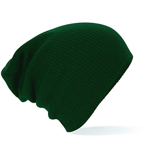 Slouch verde de verde punto Gorro Beanie Beechfield ZqwOaq