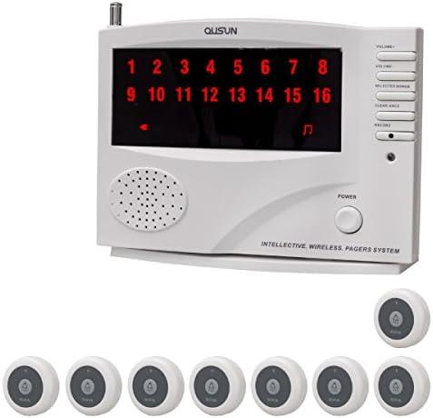 ワイヤレス チャイム コードレスチャイム 業務用 16ch 送信機 9個 白 保証_92071-1-1