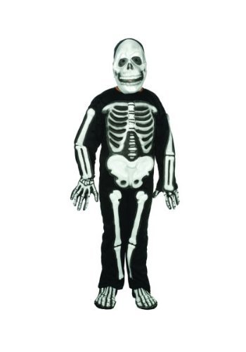 RG Costumes Skeleton with 3D EVA Bones, Child Large/Size 12-14 by RG Costumes