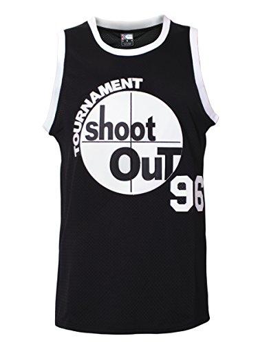 MOLPE Men's 96 Tournament Shootout Jersey Basketball Jersey S-XXXL Black -