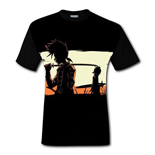 Ddcfecbgr Symphonia Champloo Men's Top T-Shirt Cool Short Sleeve Tee Shirts for Men XL -