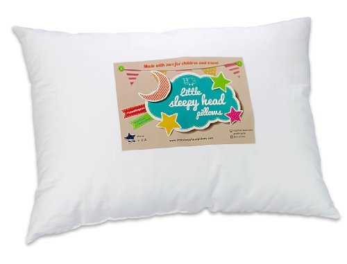 Amazon.com: Little Sleepy Head Toddler Pillow, White, 13 X 18: Baby