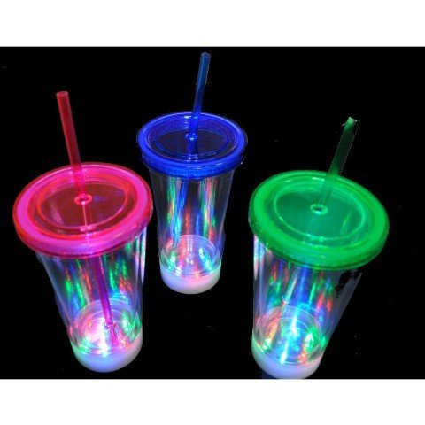 Light Up Cup - Gloworks Flashing Acrylic LED Cup with
