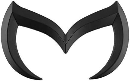 Coepoch Mazda Black Sporty Metal Evil 'M' Rear Trunk Badge Decal Emblem  Matte 3 5 6 M3 M5 M6