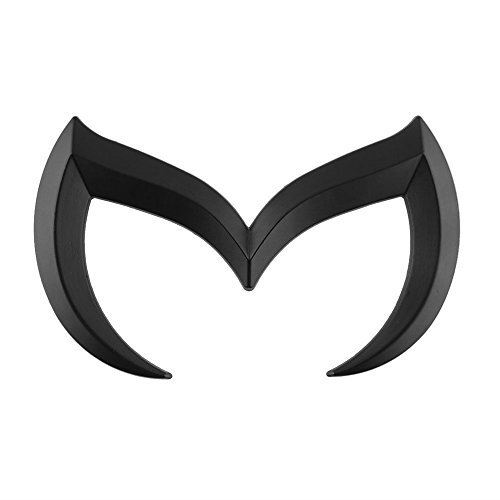 Coepoch Mazda Black Sporty Metal Evil 'M' Rear Trunk Badge Decal Emblem Matte 3 5 6 M3 M5 M6