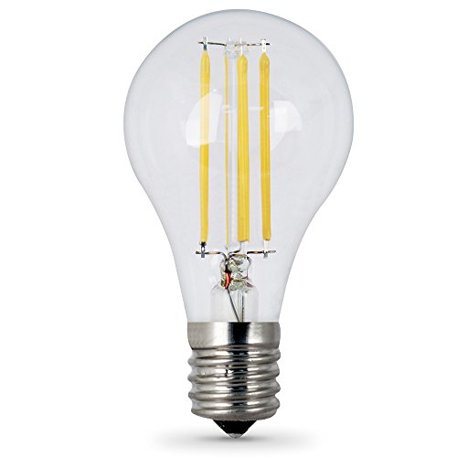 Feit Electric BPA1540N/827/LED/2 Decorative Clear Glass Filament LED Dimmable 40W Equivalent Classic A15 Light Bulb (Pack of 2), Soft White