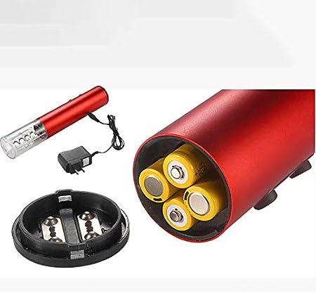 Hengqiyuan Botella Sacacorchos eléctrico del sacacorchos, abrelatas eléctrico del Vino, con tecnología sin Cable 4AA batería batería no incluir-Mejor Regalo para los Amantes del Vino,Rojo