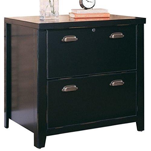 Martin Furniture Tribeca Loft Black 2-Drawer Lateral File Cabinet - Fully Assembled by Martin Furniture (Image #1)