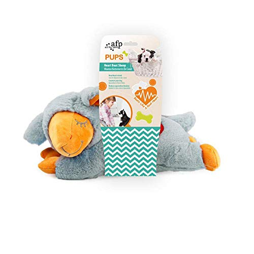 - All for Paws Puppy Behavioral Aid Dog Toy Heart Beat Sheep Warm Bear Plush Toys, Machine Washable