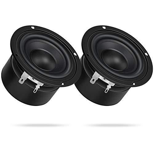4Ohm 15W Tweeter Speaker, DROK 2PCS 3 Inch Round Speaker 45mm Full Range Speaker External Magnetic Strong Interference Immunity for DIY Tweeter Speakers for Car