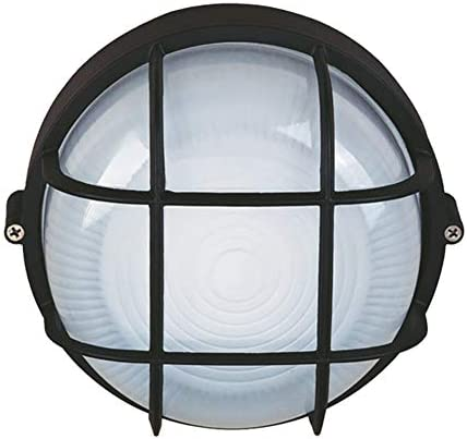 Aplique Exterior Impermeable, A Prueba De Humedad A Prueba De Explosiones Ronda Nautical lámpara industrial, Lámpara De Pared Al Interior O Nautical Lámpara, Retro Aplique Impermeable E27,1pack: Amazon.es: Iluminación