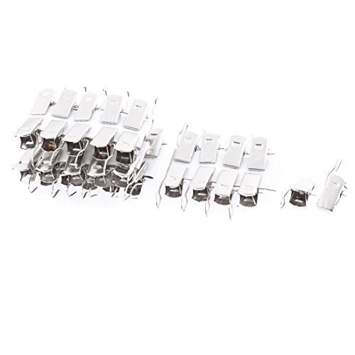 Metal Spring Loaded Hook Drapery Shower Curtain Rod Clips 40