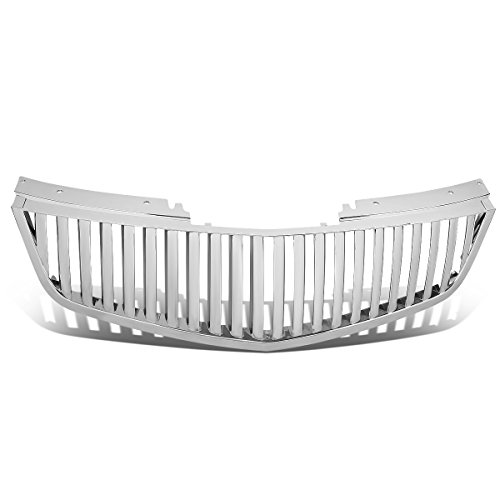 For Cadillac DTS ABS Plastic Glossy Badgeless Vertical Fence Style Front Bumper Grille (Chrome)