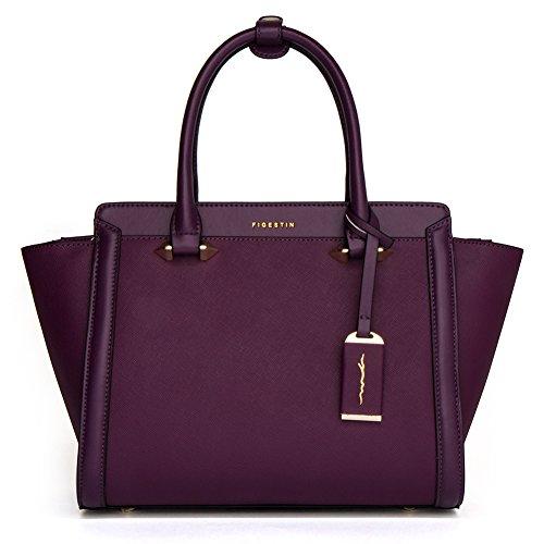 16f4f6f42eb9 FIGESTIN Women Genuine Leather Handbags Shoulder Designer Simple Tote Purses  Satchel Bags