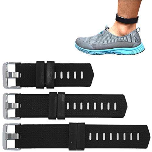 B-Great 21mm Watch Band Extenders Compatible with Fitbit Versa Fitbit Charge Fitbit Charge HR Fitbit Charge 2 Watch Bands, Extender Band for Larger Size Wrist or Ankle Wear, Black