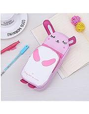 1 PC PU Olówek Cute Bunny Pen Torba Pokrowiec Duza Pojemnosc Pióro Papiernicze Dostawy Papiernicze dla studentów - Pink, Student Learning Materialy