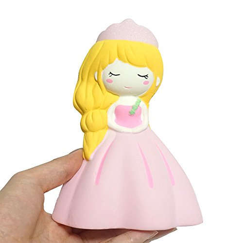 Theshy Squishyies Cartoon Adorable Princess Scented Slow Rising Squeeze Stress Reliever Toy Fidget Hand Toy for Kids Gift (9 Year Old Won T Sleep Alone)