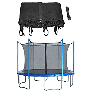 Upper Bounce Trampoline Safety Enclosure Net, Fits 13 FT Round Frame, Using 8 Poles (or 4 Arches) - Adjustable Straps