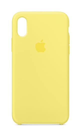 new product 9d074 ad259 Apple MRG32ZM/A iPhone X Silicone Case - Lemonade: Amazon.co.uk ...