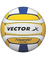 Vector X Tourino Volleyball 32 Panels (White-Yellow-Blue), 4