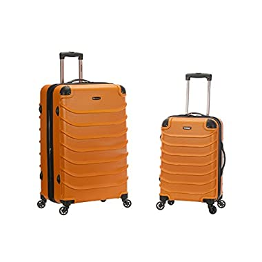 Rockland Speciale 20 Inch 28 Inch 2 PC Expandable ABS Spinner Set, Orange, One Size