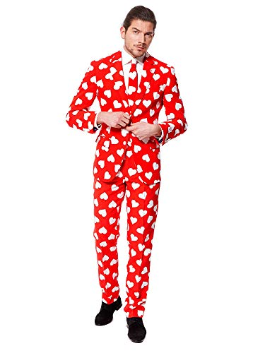Cupid Costume For Men (OppoSuits Men's Mr. Lover Lover Party Costume Suit, Red/White,)