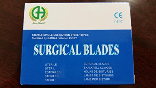 100 Disposable Surgical Use Carbon Steel Scalpel Blade, #10 (Steel Surgical Blades)