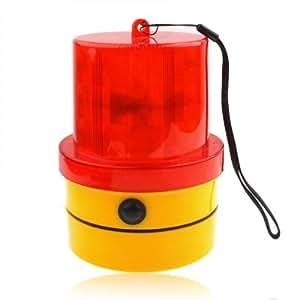 Flash De Luz Estroboscópica De Advertencia Con Una Fuerte Base Magnética (Amarillo + Rojo)