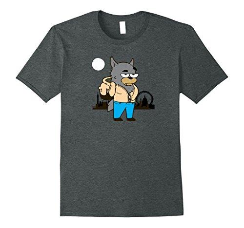 Witty Costumes Ideas (Mens Werewolf Transformation Popular Halloween Costume Idea XL Dark Heather)