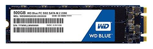 WD Blue 500GB PC SSD - SATA 6 Gb/s M.2 2280 Solid State Drive - WDS500G1B0B [Old Version]