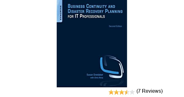 Business continuity and disaster recovery planning for it business continuity and disaster recovery planning for it professionals 2 susan snedaker amazon fandeluxe Images