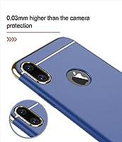 Pelotek: iPhone X Blue Case, iPhone Xs Blue Case, Ultra Slim Fit Design Luxury Attractive Thin Design Anti-Shock 3-in-1 Hard PC Blue and Gold Protective Phone Case