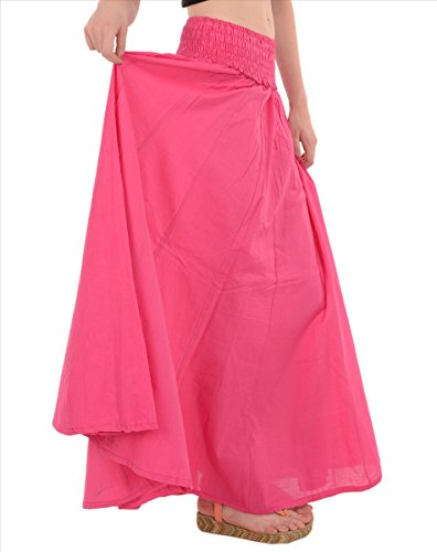 SNS Pure algodón, manga larga Maxi falda Pink 2