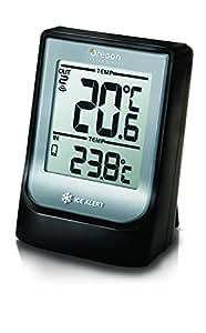 Oregon Scientific EMR-211 - Termómetro con reloj, Bluetooth, compatible con App Weather & Home, color negro