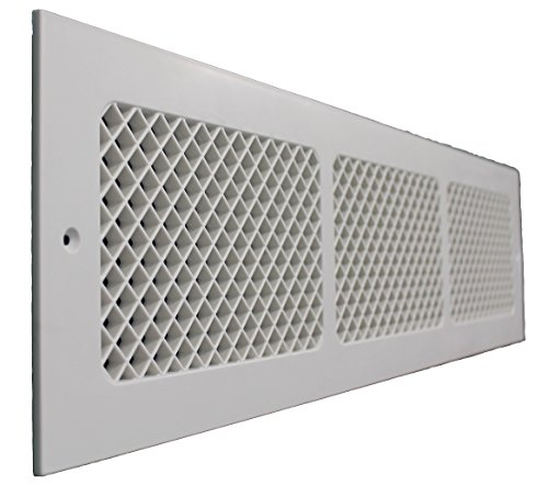 SMI Ventilation Products EWM630 Cold Air Return - 6 in x 30 in Essex Style Wall Mount - Overall Dimensions 8 in x 32 - Overall 8 X 8 Inch