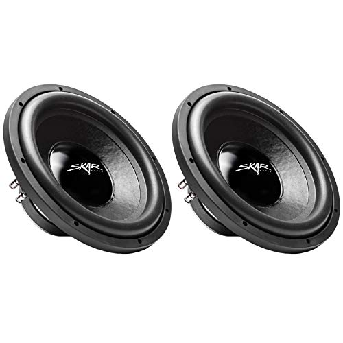 (2) Skar Audio IX-12 D4 12″ 500W Max Power Dual 4 Subwoofer