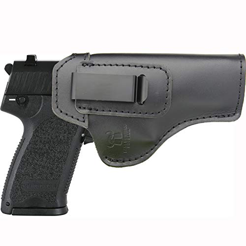 IWB Holster Leather Fits: HK (H&K) USP 9 mm / .45 AUTO /.40 S& W/Full Size- Inside Waistband Concealed Carry Pistols Holster -Right Hand Draw