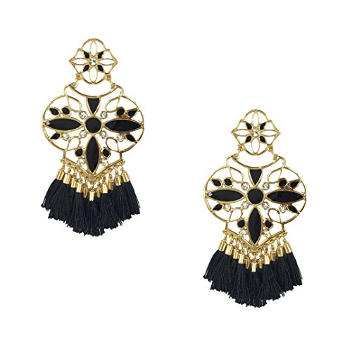 (Kate Spade Moroccan Tile Chandelier Earrings, Black)