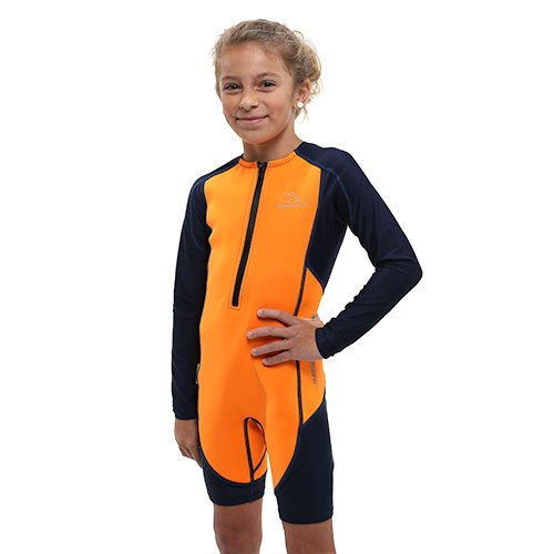 Aqua Sphere Stingray Long Sleeve Thermal Suit w/New 2017 Fit, Orange/Navy Size 6 by Aqua Sphere