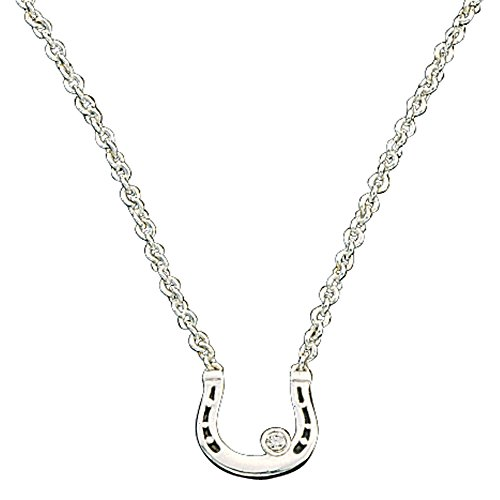 Montana Silversmiths Small Horseshoe with Crystal Necklace, 18