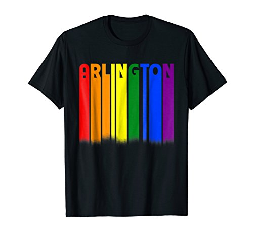 Best-selling Arlington Texas Downtown LGBT Pride Rainbow Sky Shirt