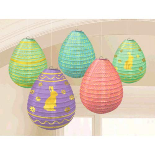 Easter Lanterns - Amscan 242072 Easter Hanging Decorations Mini