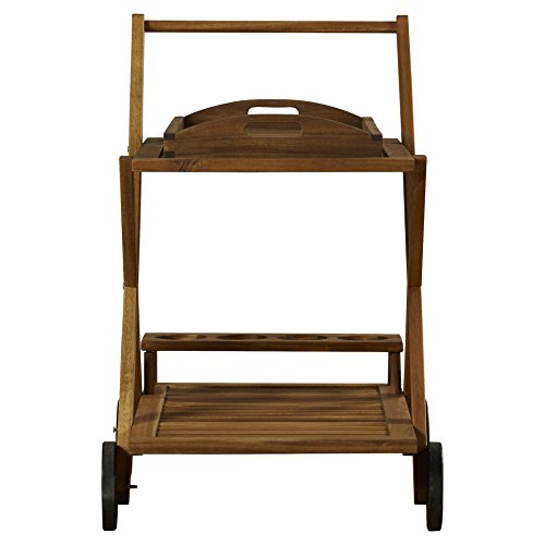 Beachcrest Home Deer Island Serving Cart, Bar Serving Cart, Distressed by Beachcrest Home (Image #1)